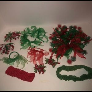 Bundle of 10 kid's Christmas hair accesssories